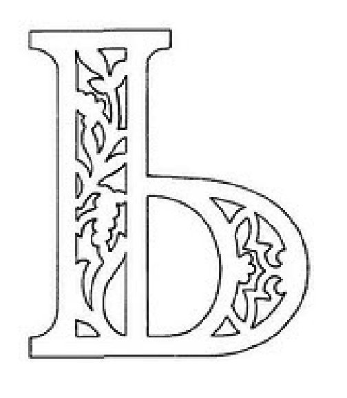 вытынанка русские буквы алфавит трафарет ъ