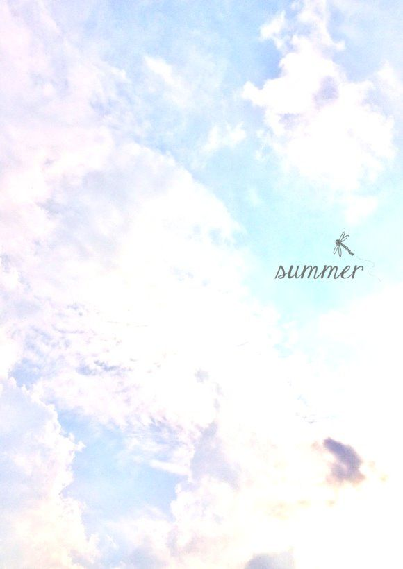 summer ♥ Sommerhimmel mit Schäfchenwolken