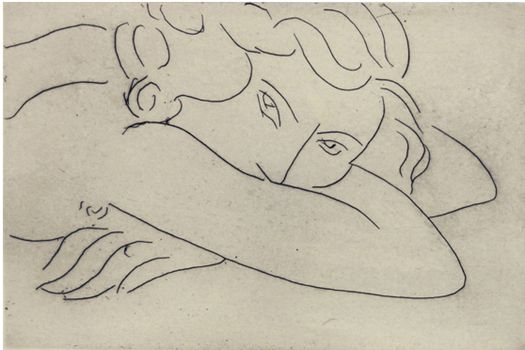 Continuous Line Drawing Famous Artists : Henri matisse line drawing