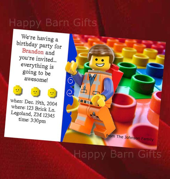 17 best ideas about lego birthday invitations on pinterest | lego, Party invitations