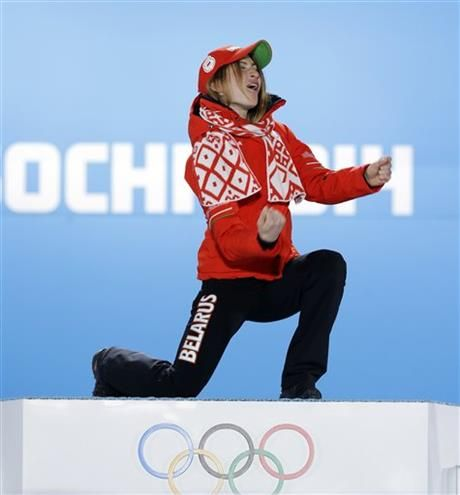 (AP Photo/David J. Phillip ) ▼16Feb AP|Domracheva eyes 3rd straight Olympic biathlon gold http://wintergames.ap.org/article/domracheva-eyes-3rd-straight-olympic-biathlon-gold #sochi2014 #biathlon #Domracheva #Belarus