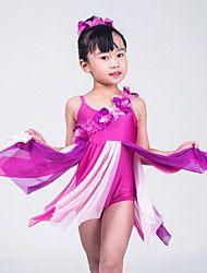 Ballet Jurken Dames / Kinderen Prestatie Lycra Bloem (en) / Geplooide Als In Afbeelding Ballet / Moderne Dans / Uitvoering / Ballroom