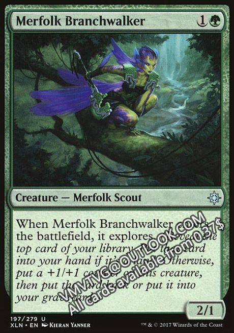 4 x MERFOLK BRANCHWALKER NM mtg Ixalan Green Merfolk Scout Unc