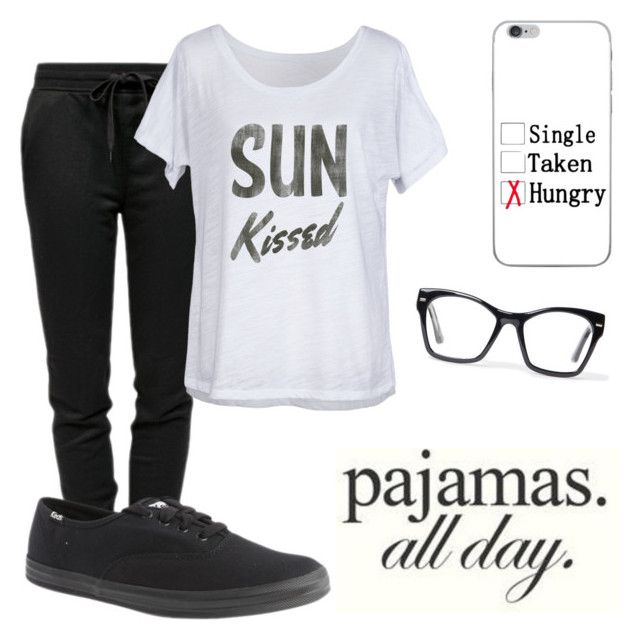 """""""Lazy day"""" by makayla-simpson on Polyvore featuring T By Alexander Wang, Feather 4 Arrow, Spitfire and Keds"""