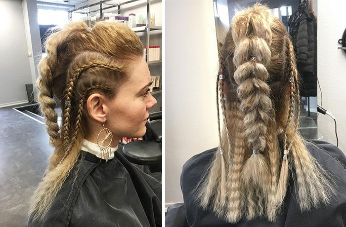 Fierce Viking Hairstyles For Modern Day Valkyries Viking Hair Braided Hairstyles Hair Styles