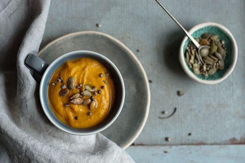 pumpkin tom kha flavoured soup