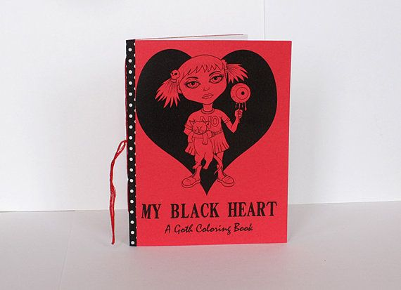 Coloring Book Goth Girls Gothic Pages Adult By SLSLines 500