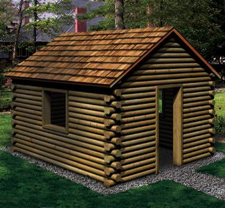 Landscape Timber Playhouse Woodworking Plan Your Kids Will Love Having Their  Own Little Log Cabin To Play In! Make It For Them Yourself From Inexpensive  ...