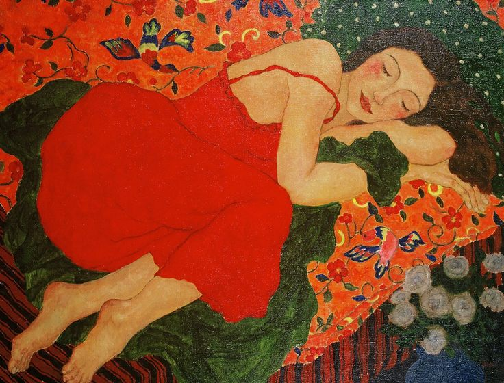 Blog of an Art Admirer: Women in Painting by Xi Pan Chinese Artist  Strongly reminded of a painting collage in an oakvillebshow