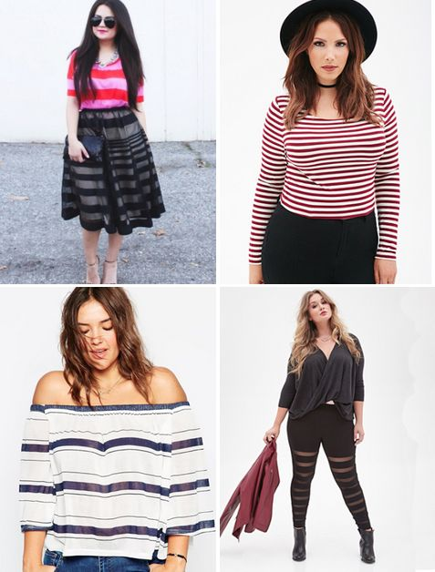 12 Clothing Items That Prove Plus-Size Girls Can Wear Stripes Too