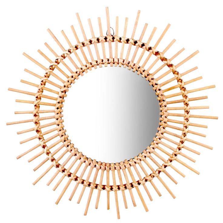 382 best wohnaccessoires home accessories images on - Spiegel mit bambusrahmen ...
