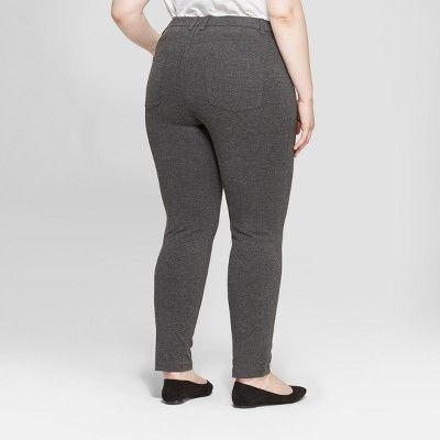b79edb7418e Women s Plus Size Comfort Waistband Ponte Pants - Ava   Viv Heather Gray 24W