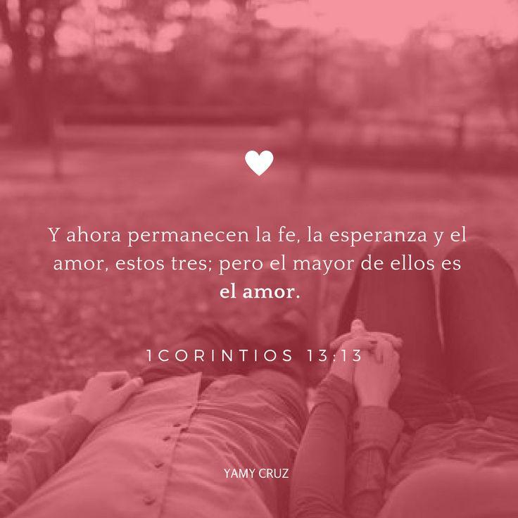 El amor… Y ahora permanecen la fe, la esperanza y el amor, estos tres; pero el…