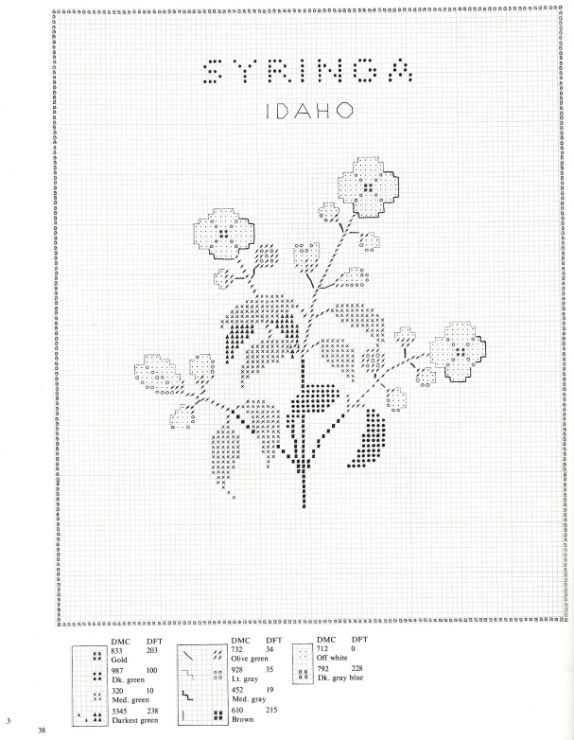 Gallery.ru / Фото #38 - U.S.State Flowers in Counted Cross-Stitch - Orlanda
