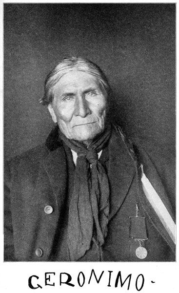 Geronimo ~ Chief who warred against the encroachment of settlers on his tribal lands  for over 25 years.