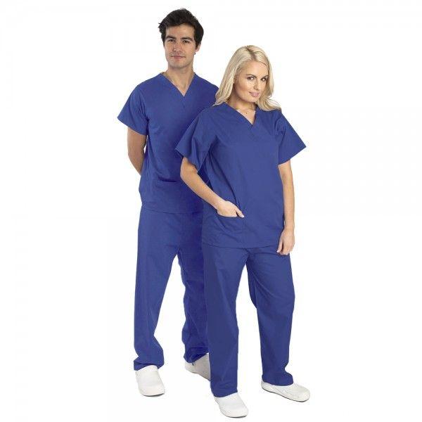 Budget Scrubs Unisex Set in Royal Blue £16.99  #medicalscrubs #nursescrubs  #nurses #bluescrubs #nurseuniform