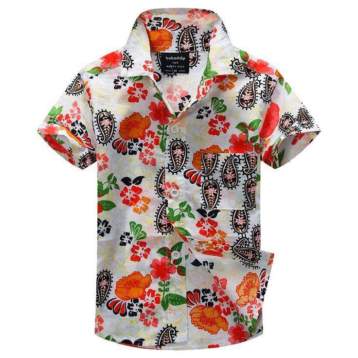 Новое прибытие цветочный рубашка гавайская рубашка гавайская рубашка для детей 1627