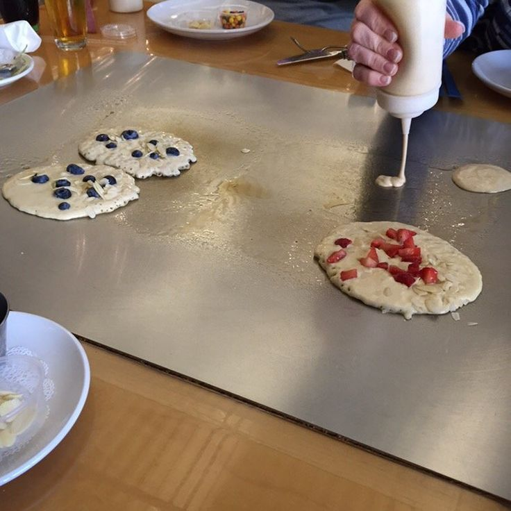 A little #fridayfun for #followfriday with the @thefunkybrunchcafe in Savannah, GA. They are a cute, fun place to check out for brunch, featuring built-in Cook-N-Dine Teppanyaki cooktops at their tables. You can make pancakes YOUR way, any toppings/fillings, any shape or size. #funkybrunch