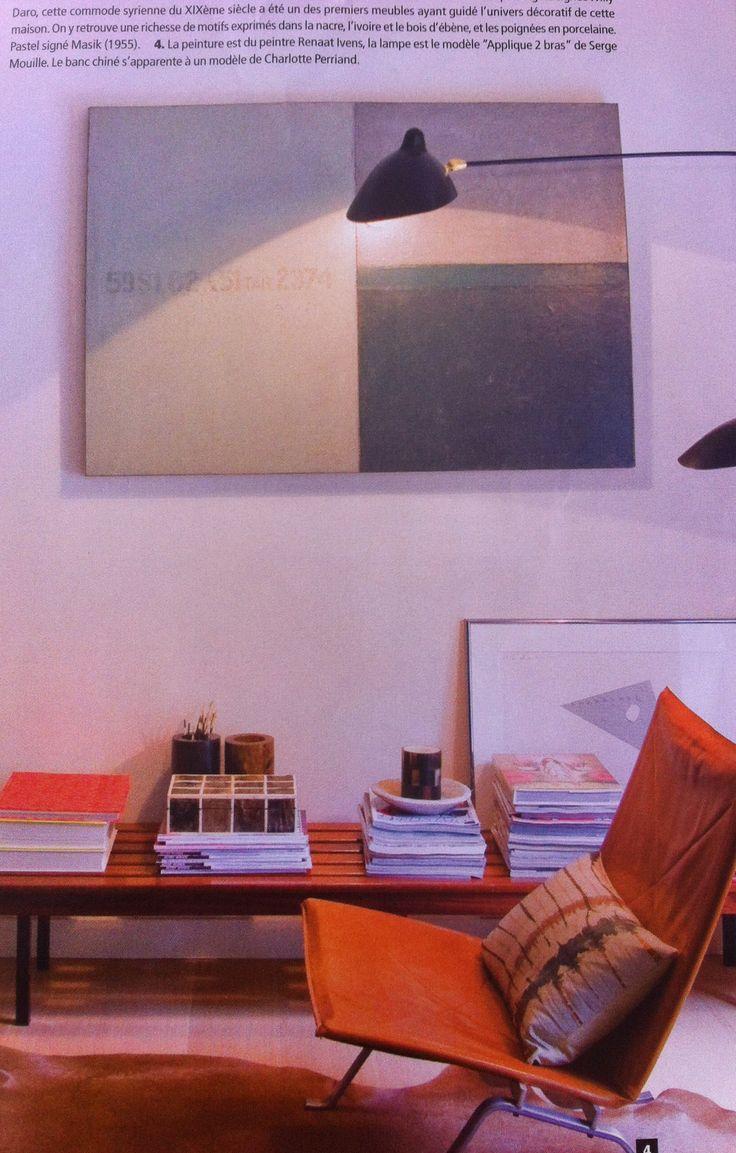 peinture renaat ivens banc charlotte perriand sitting pinterest. Black Bedroom Furniture Sets. Home Design Ideas