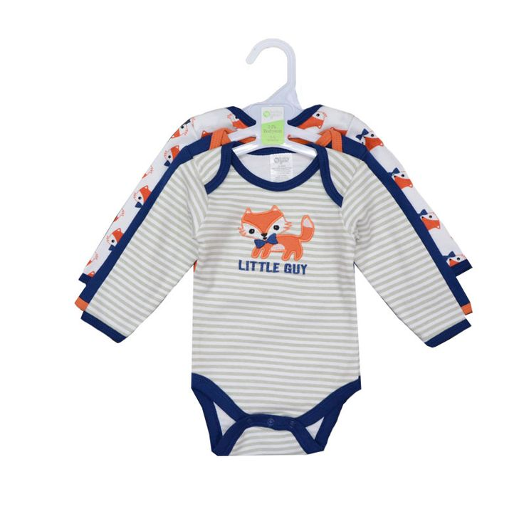3pcs/lot 2016 Winter Baby Rompers Newborn Infant Cotton Long Sleeve Jumpsuits Baby Boys Girl Clothing Bebes Clothes Wear