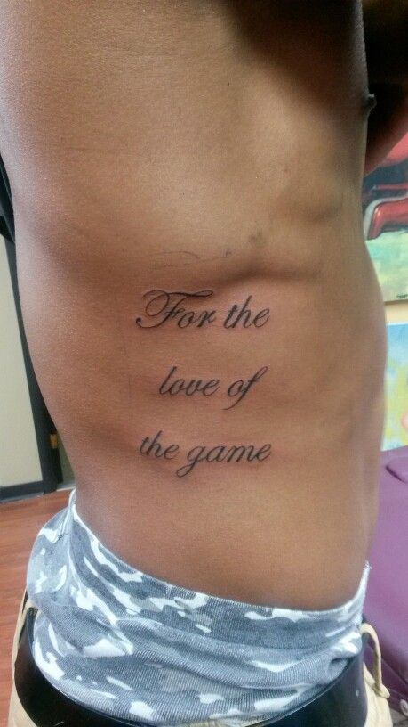 Quote Tattoos On Side For Men Quote tattoo - ...