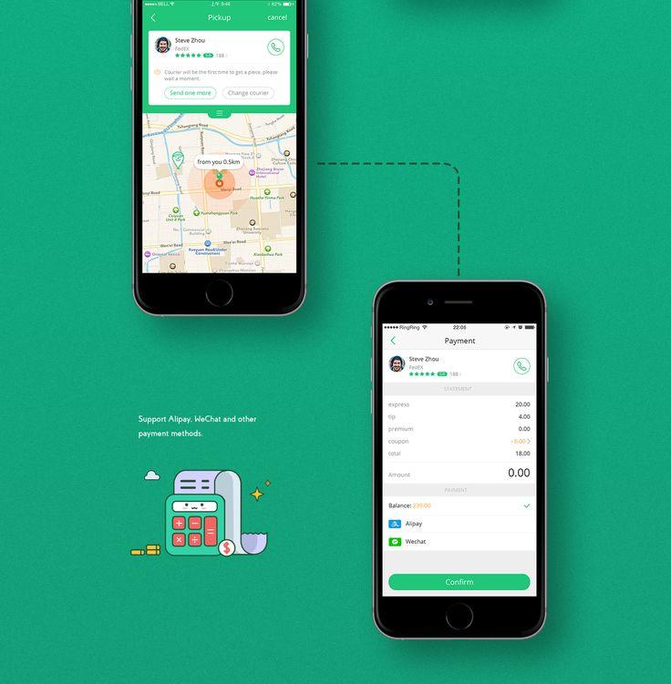 ATxiaoge express app design on Behance