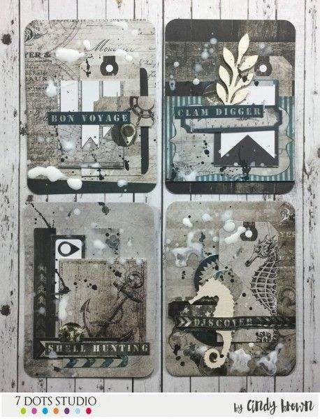 Discover - ATCs by Cindy Brown