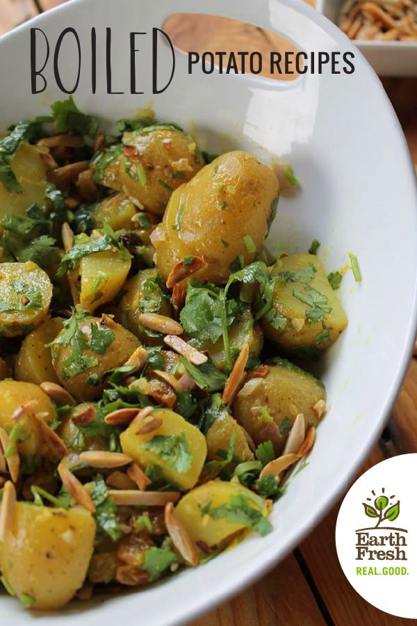 Delicious EarthFresh boiled potato recipes
