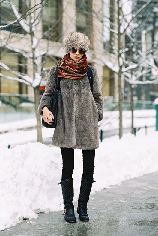 15 Stylish Ways to Sport a Fur Hat | StyleCaster