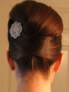 This is under short updo,