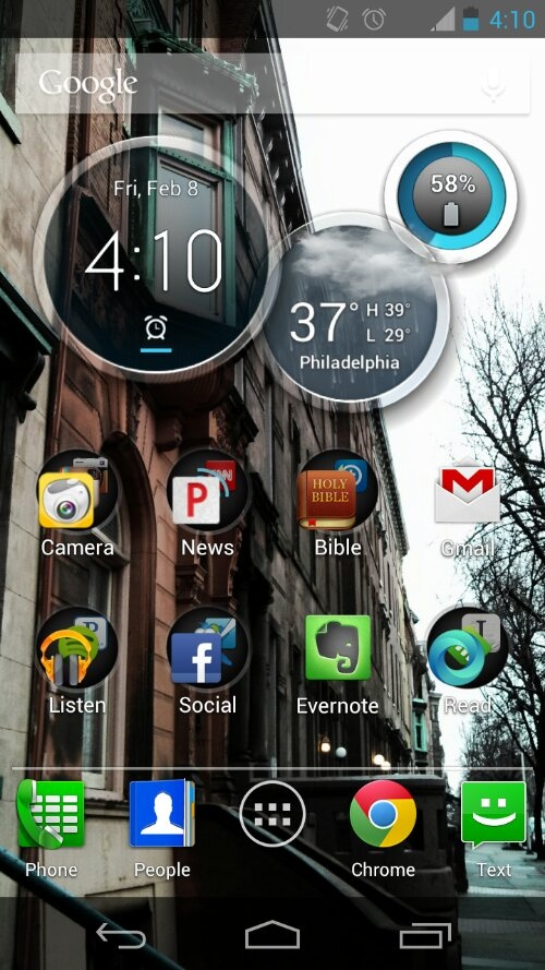 Weekend Photo Challenge: Home(screens) [a quick Android vs. Apple]