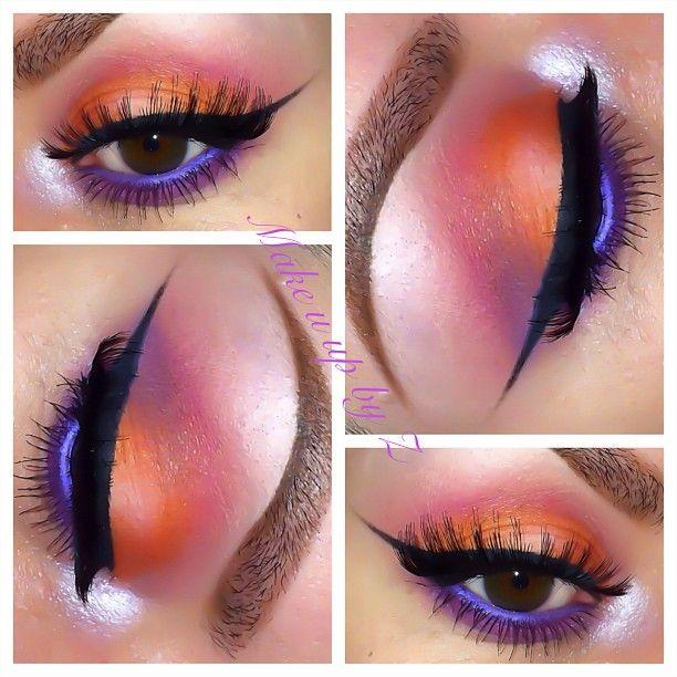 Orange And Purple Eyeshadow
