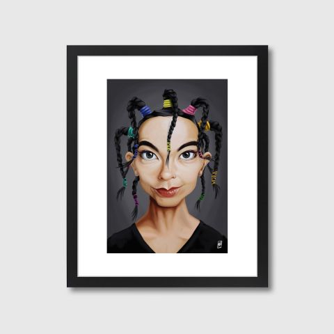 Celebrity Sunday - Björk | Monde Mosaic art | decor | wall art | inspiration | caricatures | home decor | idea | humor | gifts