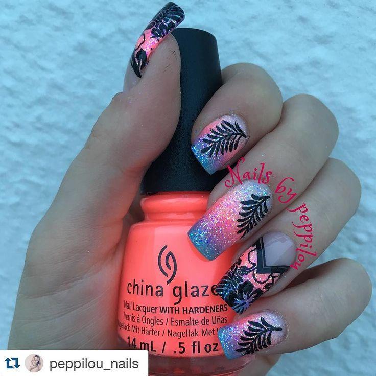#Repost @peppilou_nails with @repostapp.  Summernails  #nails #nailsalon #nailsaddict #nailsdesign #nails2inspire #nailsoftheday #nailsofinstagram #instanails #nailpolish #bestnails #realnails #nailartstyle #manicure #love #new #bornprettystore #stamping #nailstagram #flowersofinstagram #rainbow #stampingnails #stampingplates #polishaddict #polish #black #ombre #holographic #glitter #hairandfashionaddict by nails_addicts_group