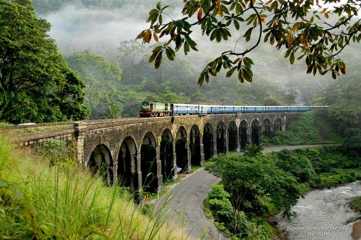 Kerala, India.  Crossed that bridge by train when I was twelve.