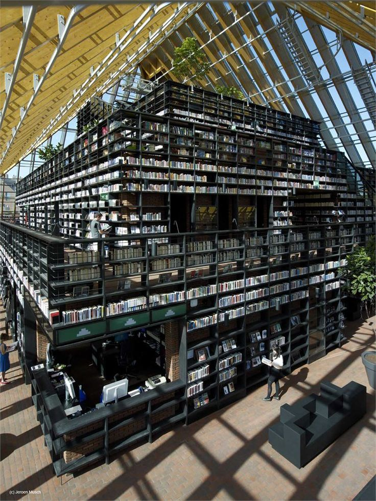 Book Mountain and Library Quarter Spijkenisse, Rotterdam, 2012 by MVRDV #books #library