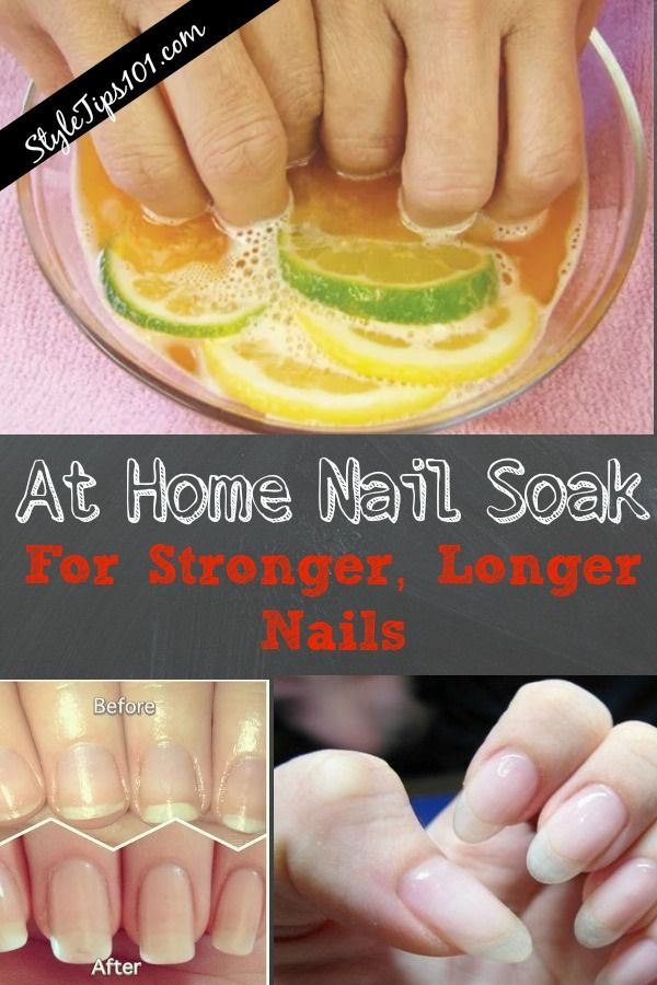 At Home Nail Soak für stärkere, längere Nägel – Nail care