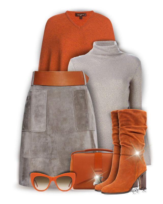 """Derek Lam Suede Belted Skirt"" by kiki-bi ❤ liked on Polyvore featuring Etro, Derek Lam, STELLA McCARTNEY and Donald J Pliner"