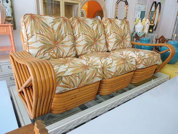 Frankl Rattan Sofa, Arm Chair U0026 Ottoman