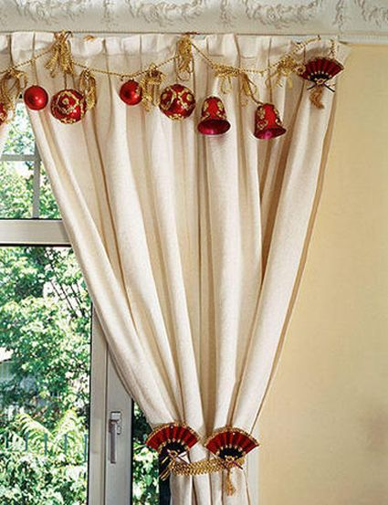 13 best Christmas Curtains images on Pinterest | Christmas deco ...