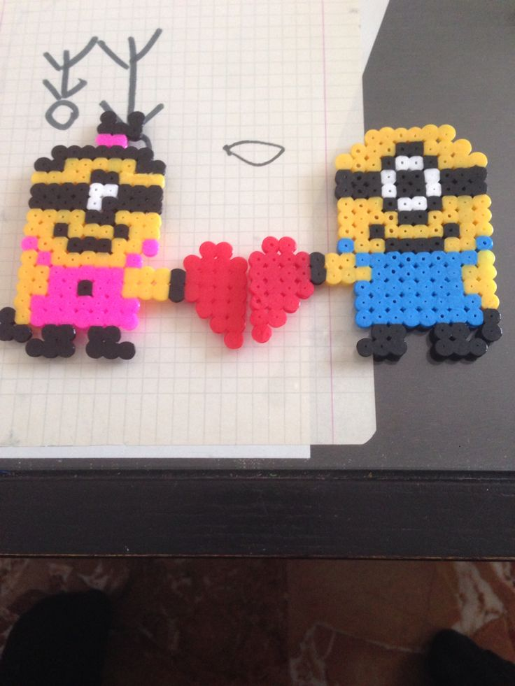 Minions in love pyssla