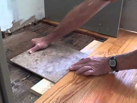 How to transition from wood floor to tile