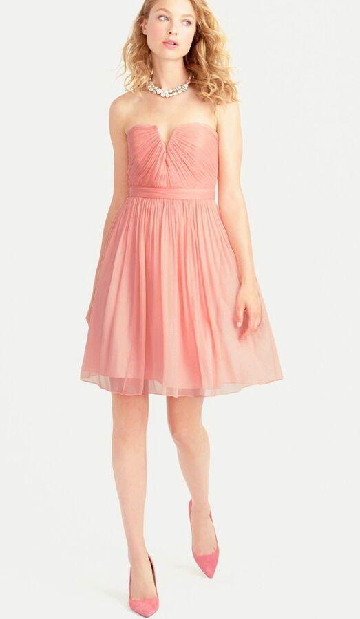 5426478f99bae NWT J. Crew Misty Rose Nadia Dress Silk Chiffon Bridesmaid Homecoming 02982  8 10#Rose#Nadia#Dress