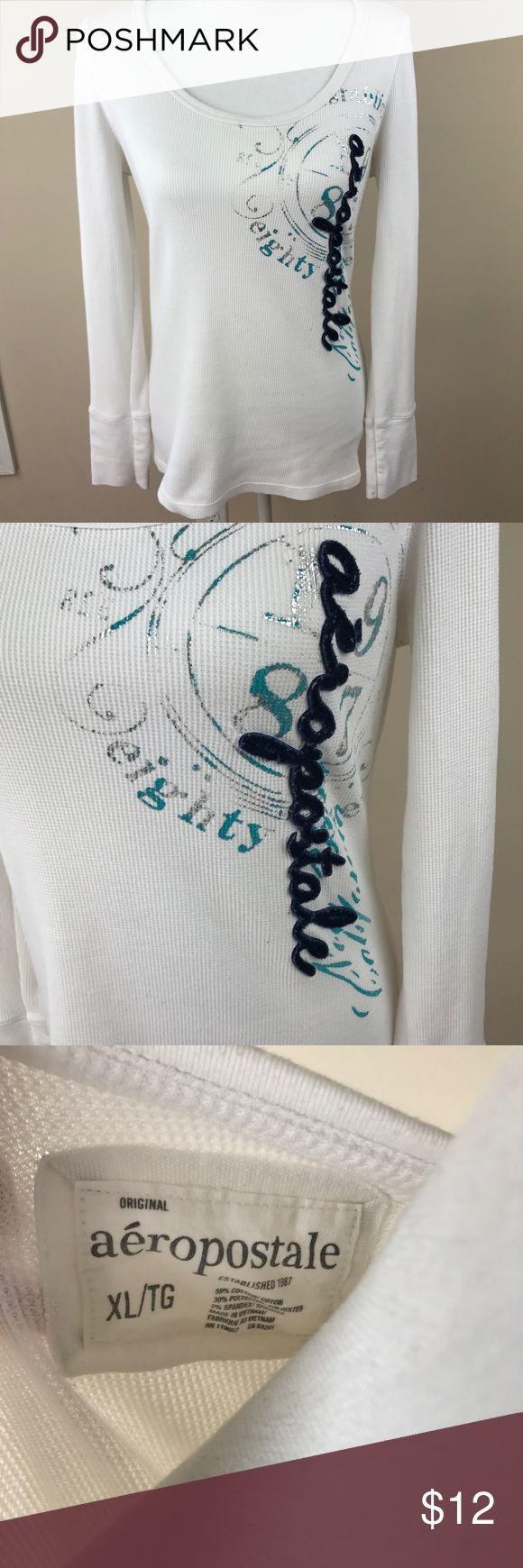 Women's Aeropostale Long Sleeve Ribbed Shirt sz XL Women's Aeropostale Long Sleeve Ribbed Shirt sz XL Aeropostale Tops Tees - Long Sleeve