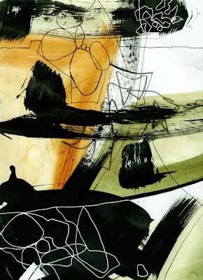 janedavies-collage journeys.blogspot.com: Scribble Painting by Jane Davies - love her abstract style!
