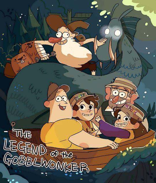capitulo 2 temporada 1 : la leyenda del moustro del lago : dipper , mabel y soos buscan a un moustro legendario que los aria famosos lo que no saben es que solo se tratase un robot