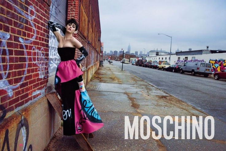 Pop star Katy Perry is the face of Moschino's fall-winter 2015 campaign. Photographed by Inez & Vinoodh, styled by Carlyne Cerf De Dudzeele.