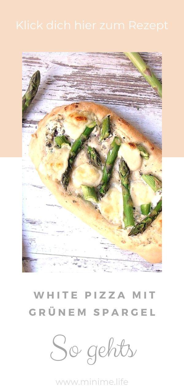 Edel und saulecker: White Pizza mit grünem Spargel