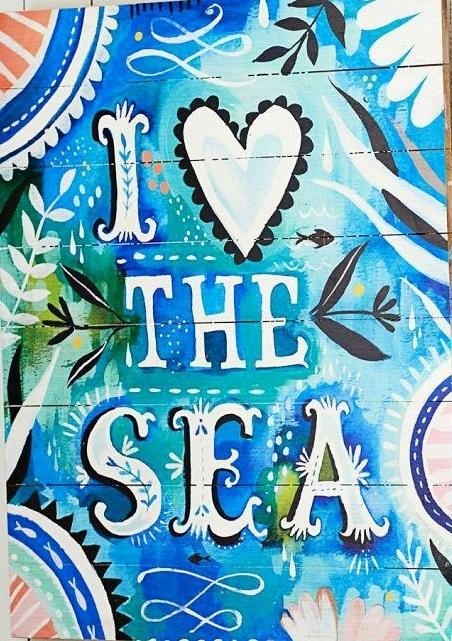 I love the sea Artwork by Katie Daisy (www.KatieDaisy.com)