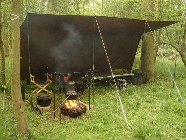Backyard Hammock Setup : dd Hammock 3×3 tarp setup  Survival shelter  Pinterest  Dd Hammocks